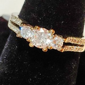 NEW SS Zirconia engagement style ring